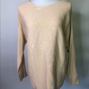J. Jill Cotton Sweater Pale Yellow